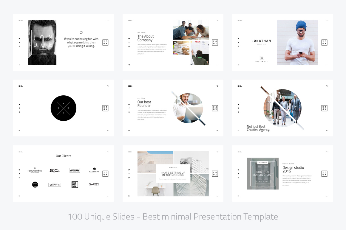 XOXO-Minimal Powerpoint Template example image 7