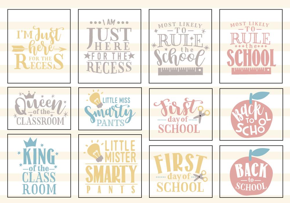 Back To School SVG Cut File Bundle example image 3