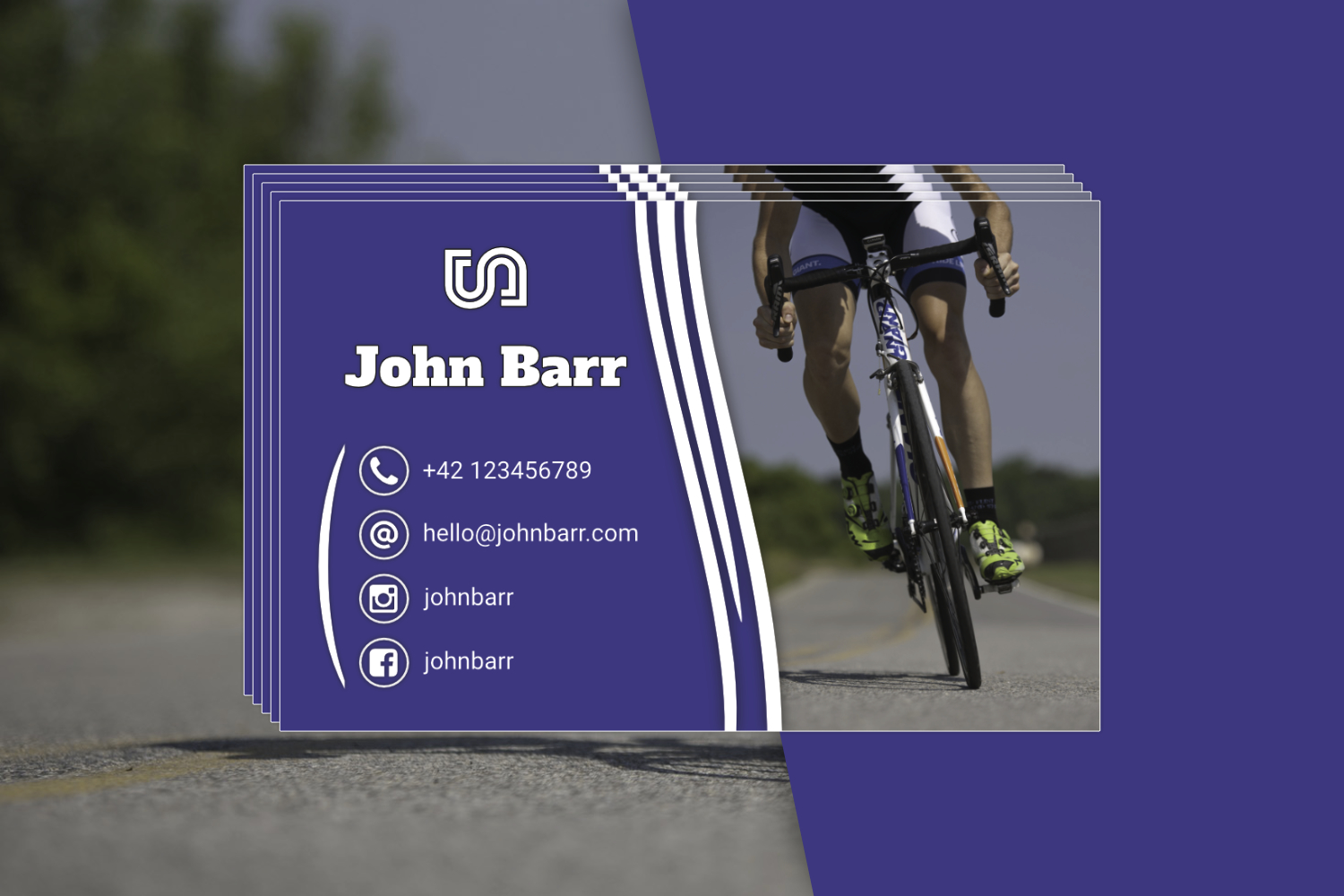 12 Sport Business Card Templates example image 3