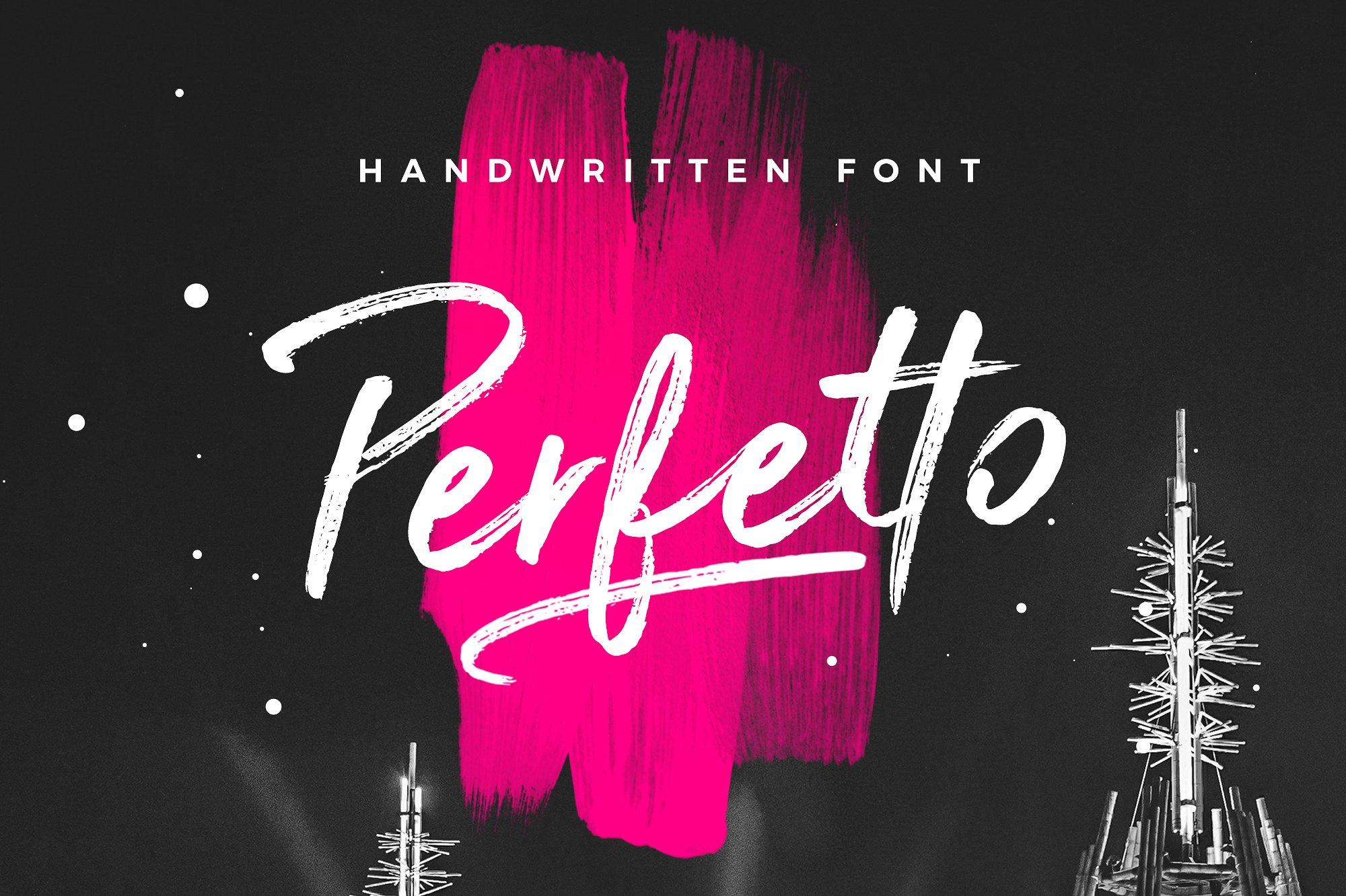 Perfetto Brush Font example image 1
