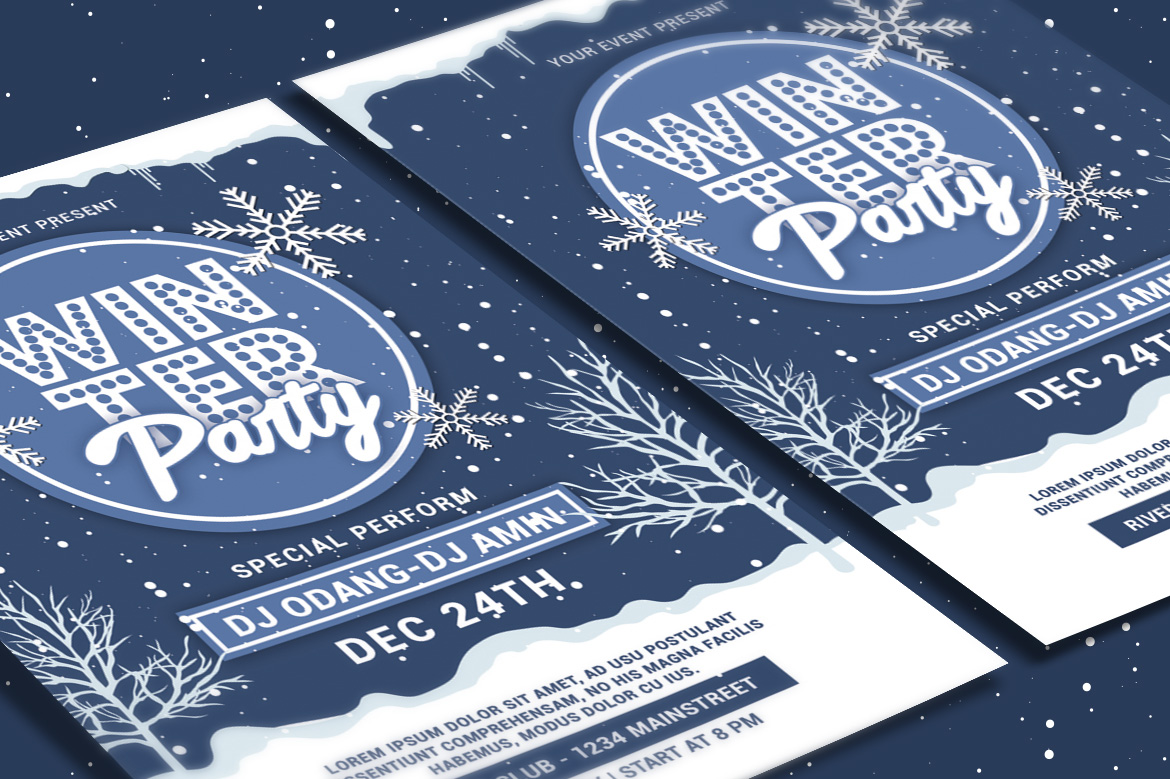 Winter Party Flyer example image 3