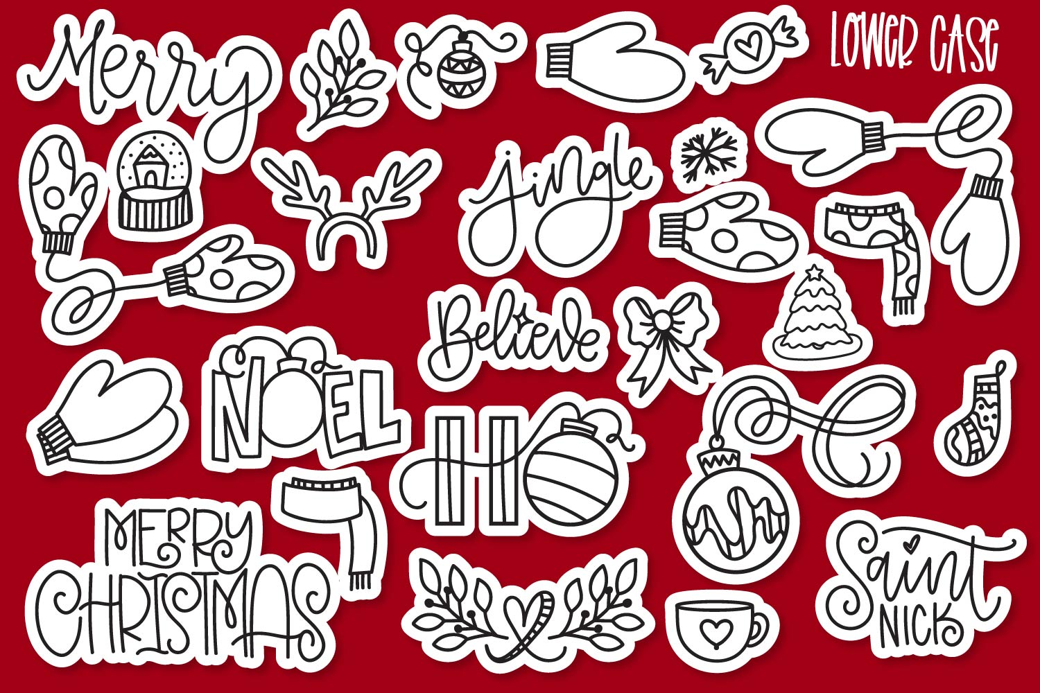 Christmas Dingbats - A font filled with Christmas symbols example image 3