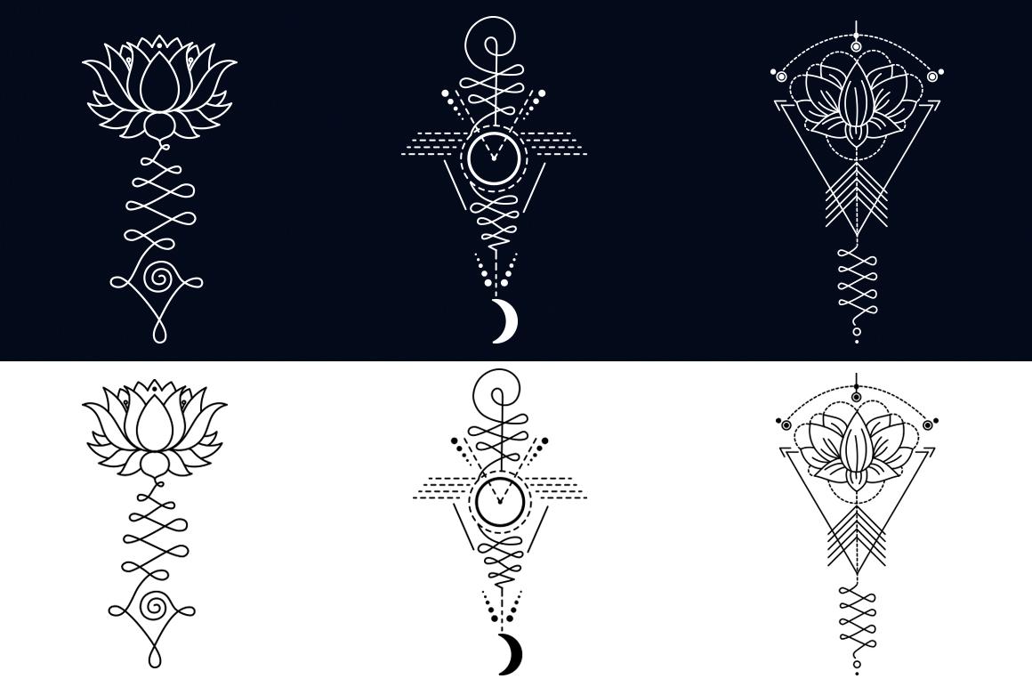 11 Unalome & lotus Sacred symbols example image 2