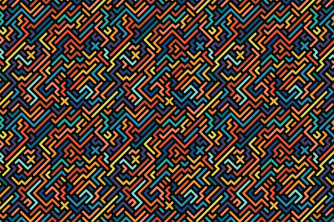 Colorful seamless striped patterns. example image 10