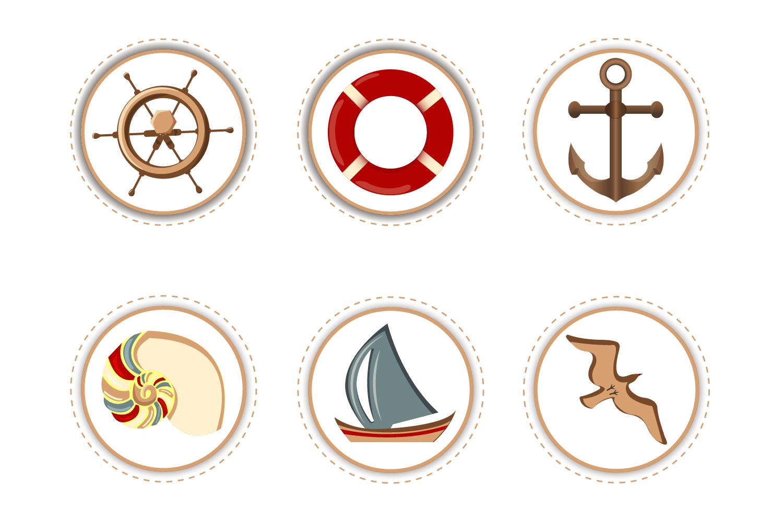 Marine Attributes - Stickers example image 1