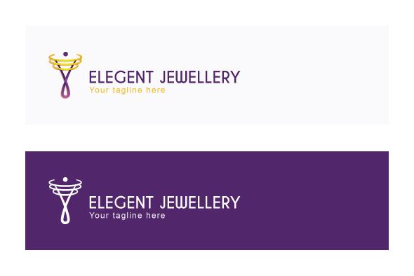 Elegant Jewellery - Creative Iconic Human Figure Stock Logo example image 2