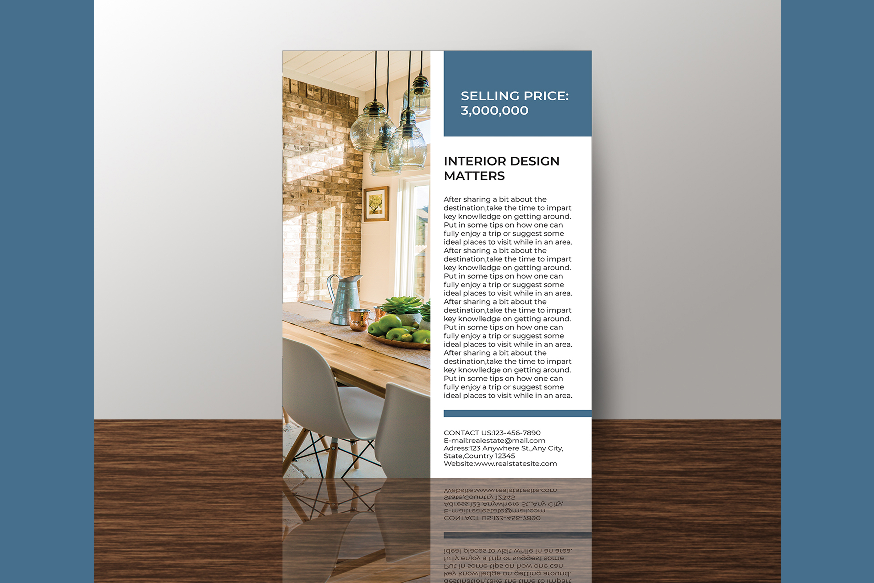 Professional Real Estate Flyer A4 - Printable Templates example image 9