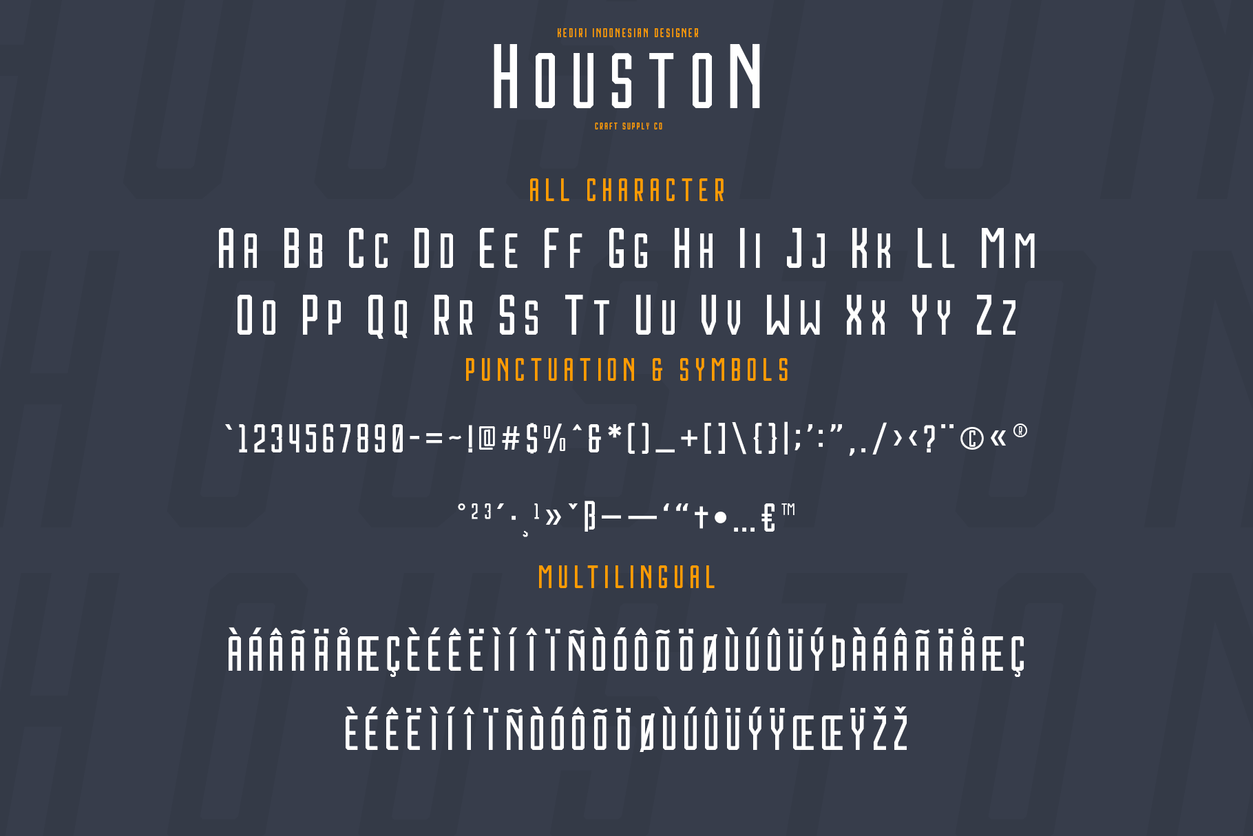 Houston Font Family example image 4