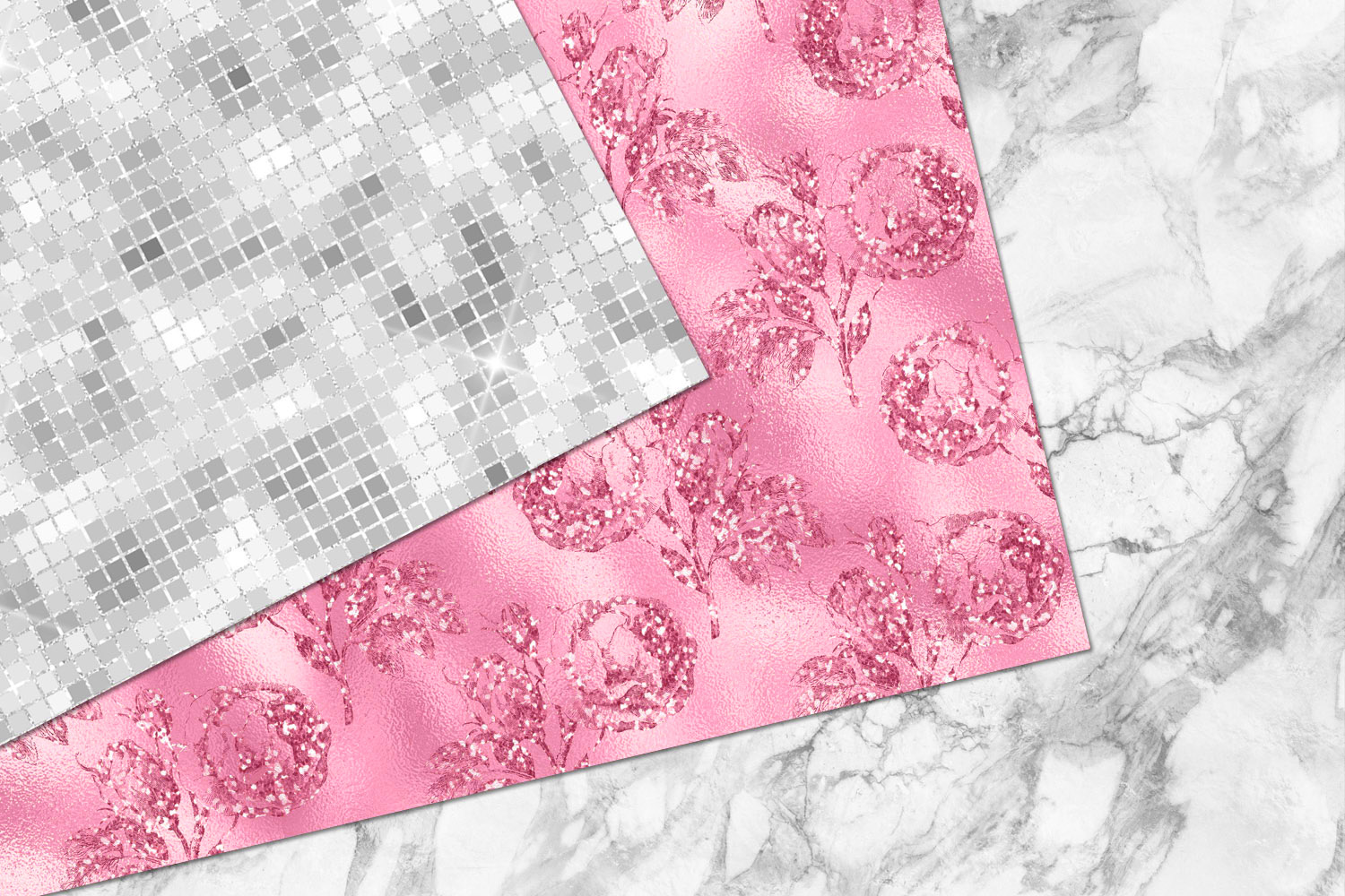 Glitzy Pink Digital Paper example image 5