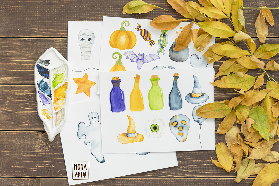HALLOWEEN WATERCOLOR COLLECTION example image 5