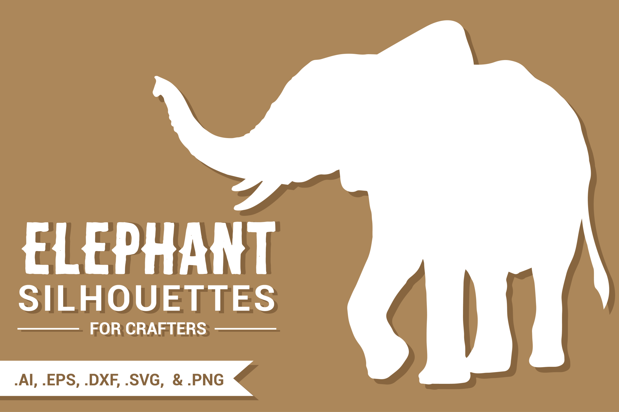 Elephant Silhouettes for Crafters example image 1