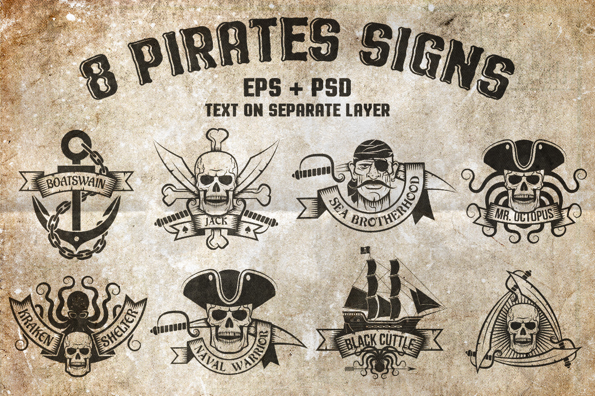 8 Pirates Signs example image 1