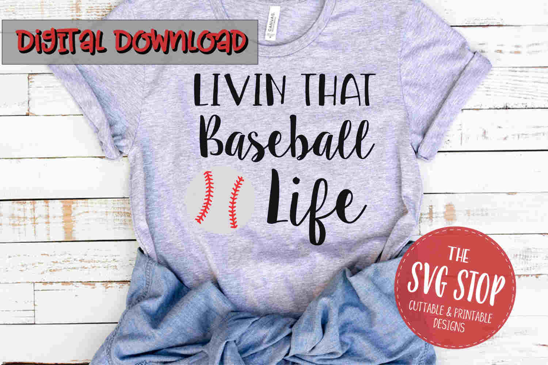 Baseball Life -SVG, PNG, DXF example image 1