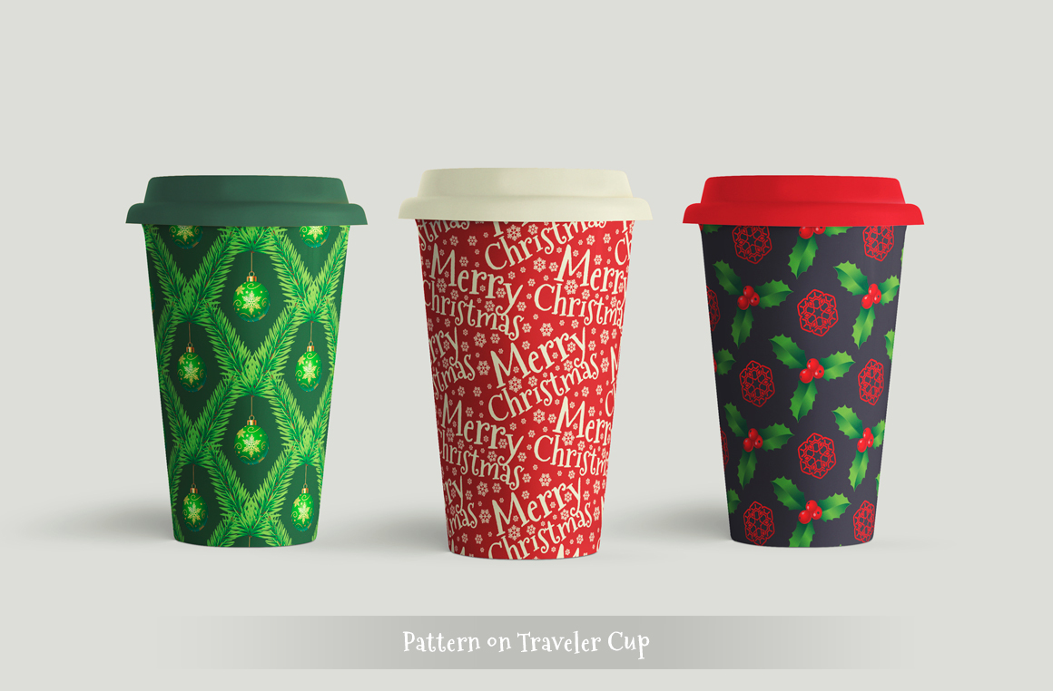 100 Christmas Seamless Patterns example image 15
