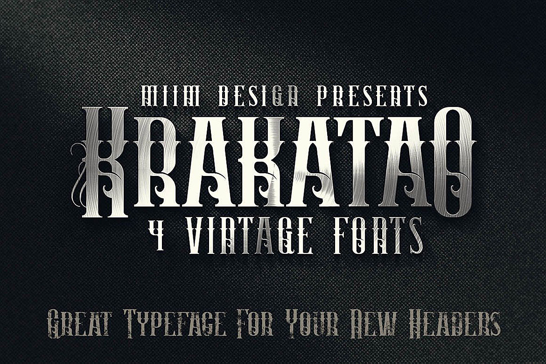 Krakatao - Vintage Font example image 1