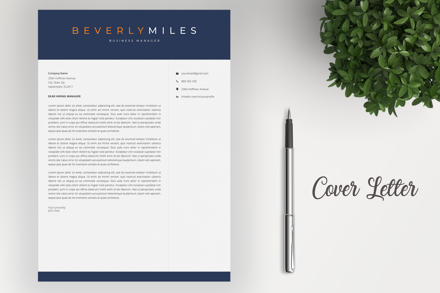 Resume Template and Cover Letter   CV template example image 4