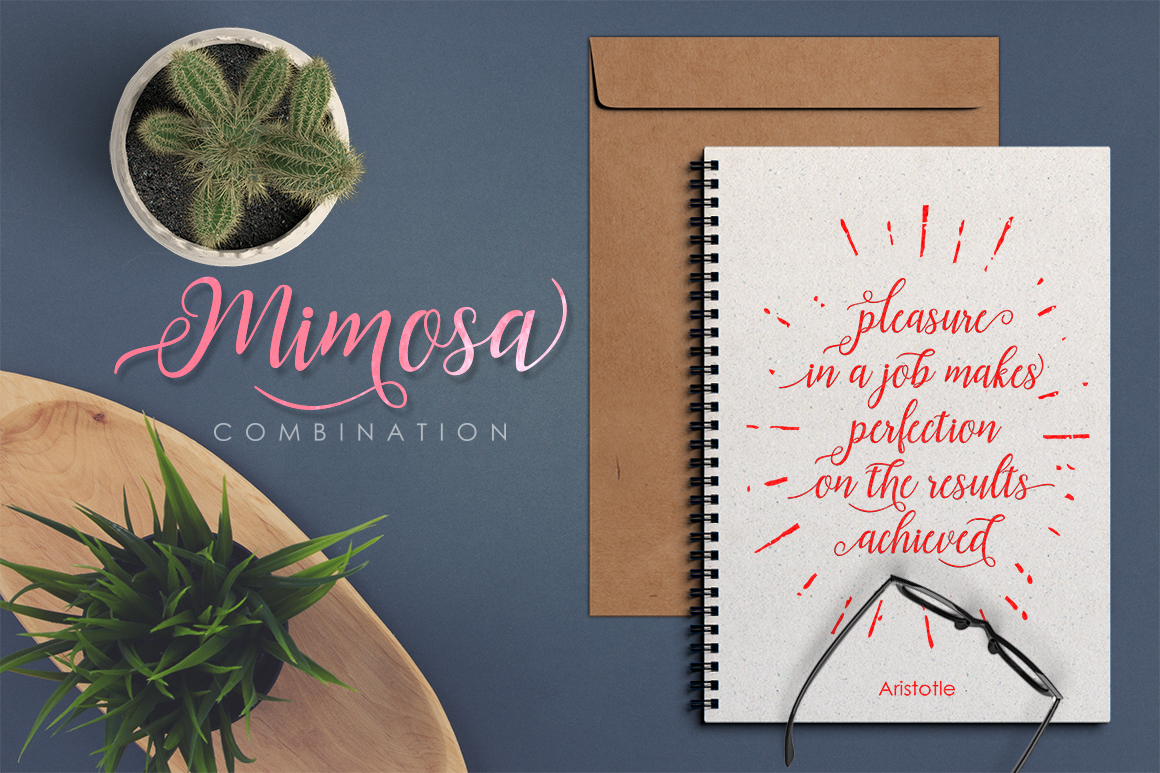 Mimosa Script example image 3