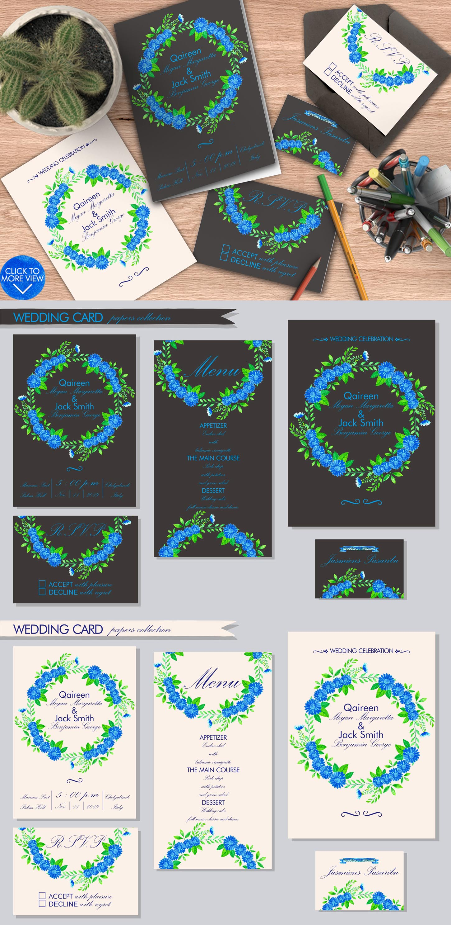 Simple Blue Floral example image 6