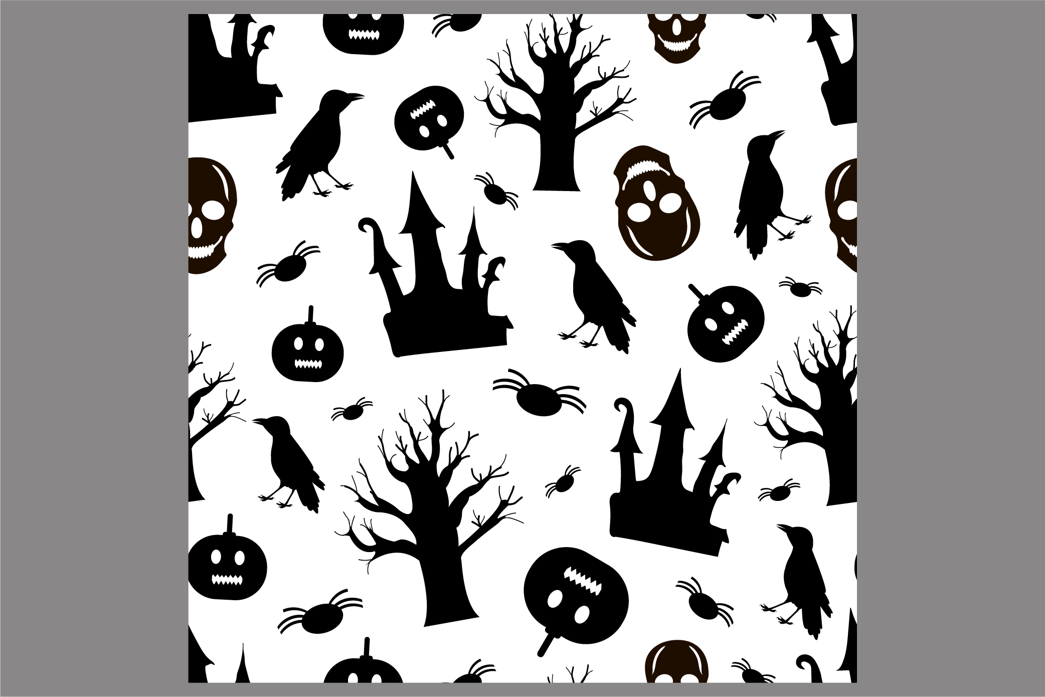 Halloween seamless patterns. Ai, EPS10, JPG, SVG example image 3