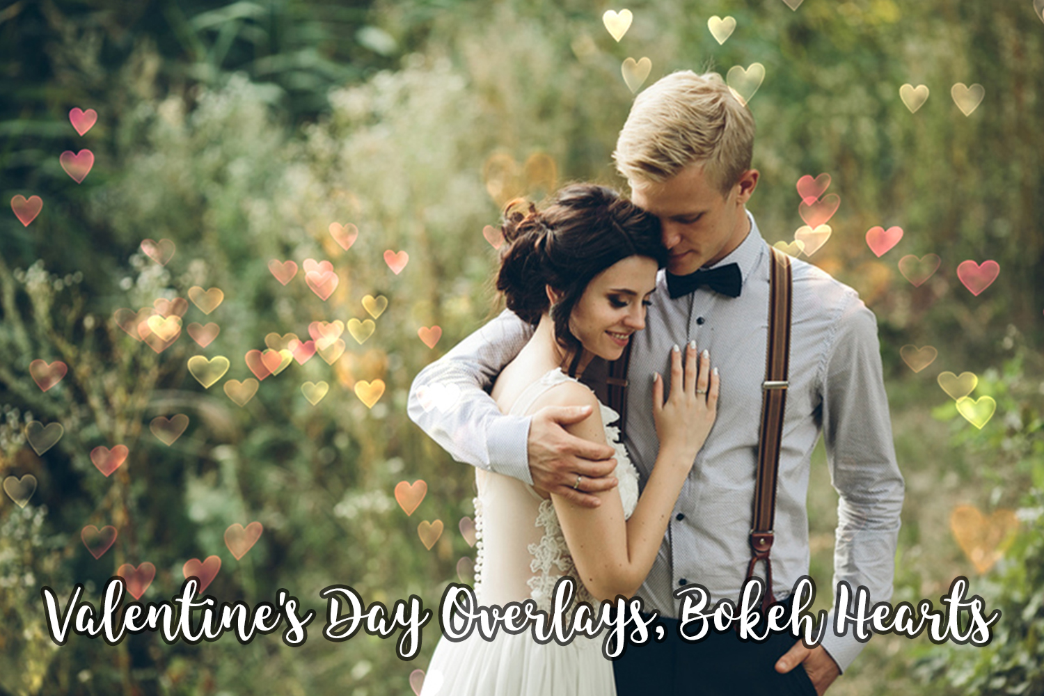 Valentine's Day Overlays, Bokeh Hearts Overlays example image 8