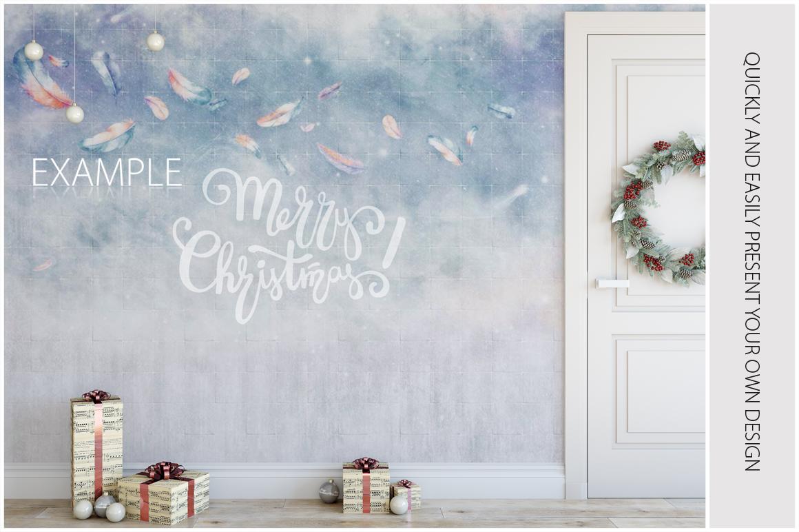 Christmas Wall Mockups example image 10