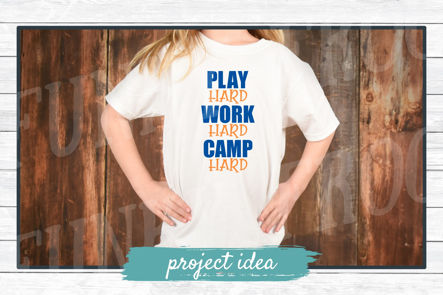 Play Hard Work Hard Camp Hard, SVG Cut File for Crafters example image 3