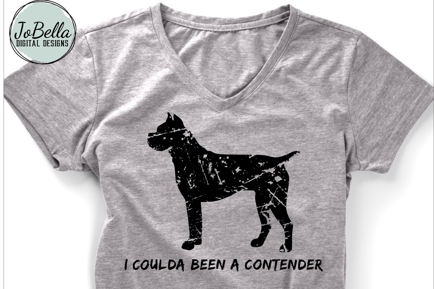 Funny Distressed Boxer SVG and Printable Dog Lover Design example image 1