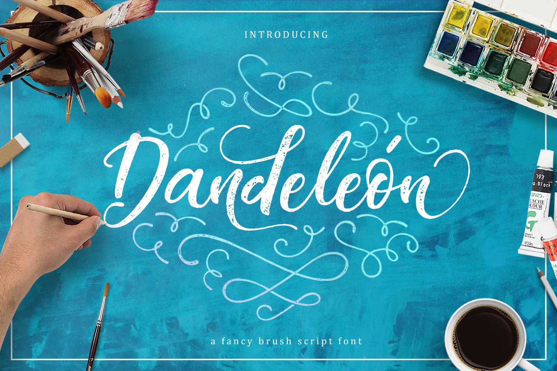 Dandeleón font + SWASHES example image 1