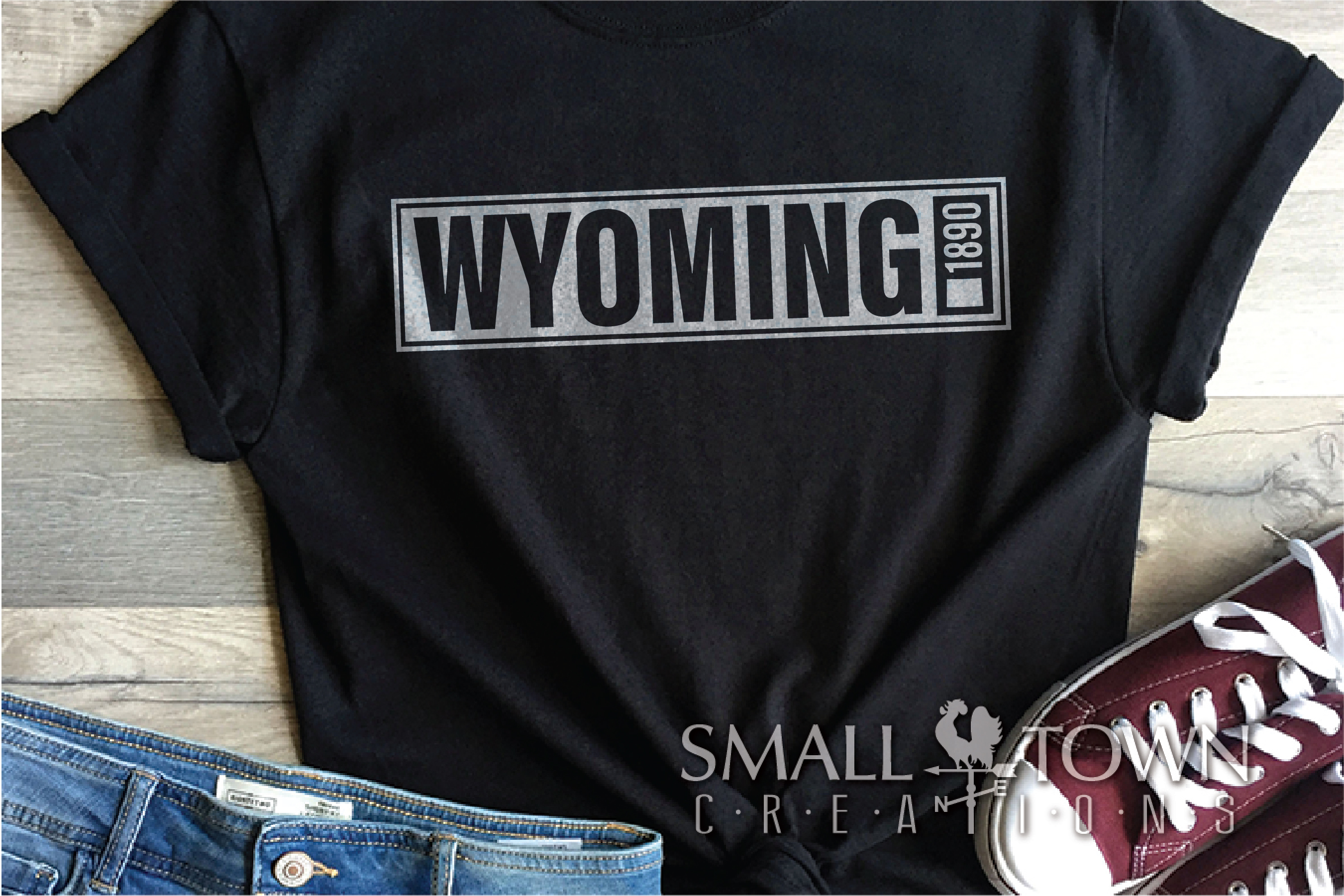 Wyoming, Forever West - slogan, Logo, PRINT, CUT & DESIGN example image 6