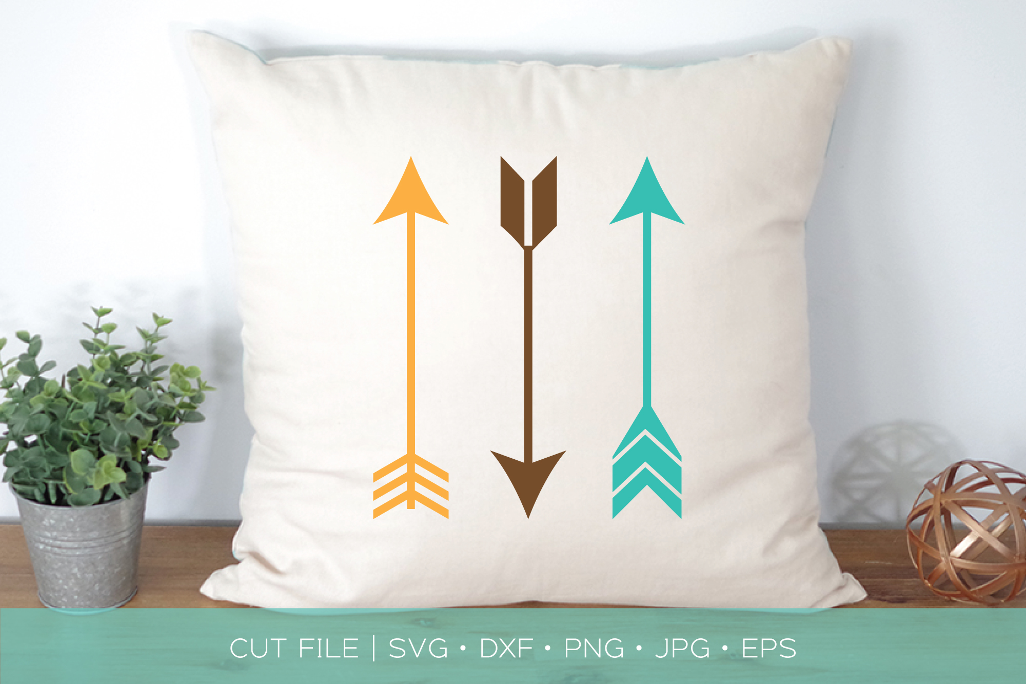 Boho Tribal Arrows SVG DXF Cut File example image 1