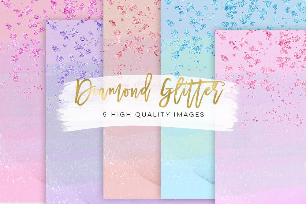 glitter diamond paper, Birthday Paper Gold or silver, planner stickers, diamond gem fashion illustration paper scrapbook, Diamond Weddings example image 1