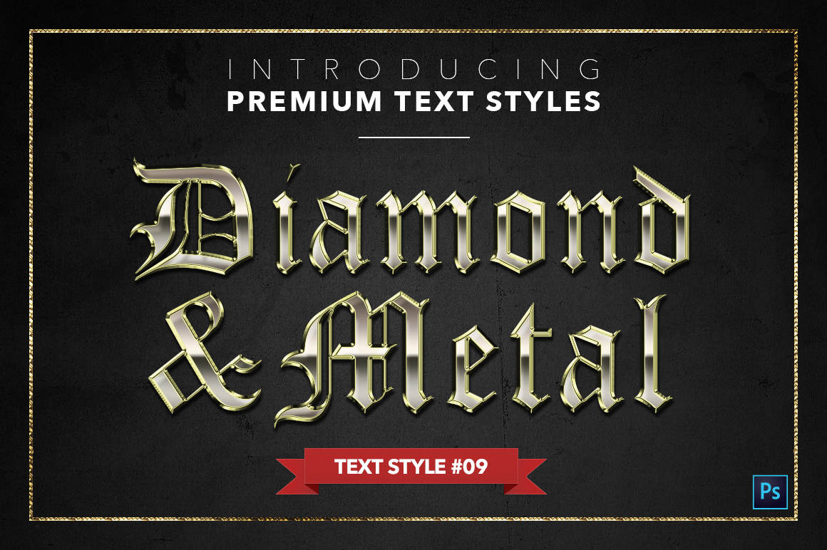 Diamond & Metal #1 - 15 Text Styles example image 10