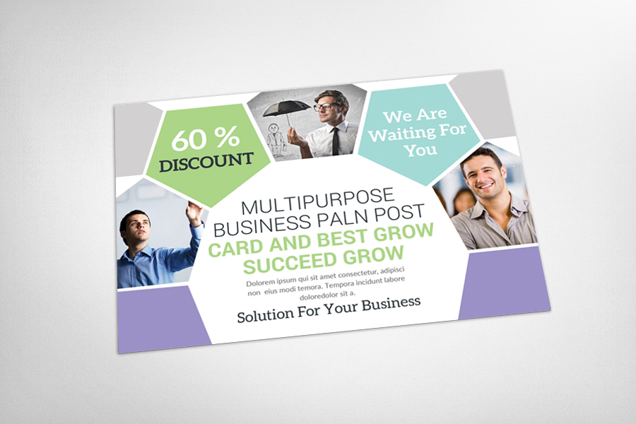 Multiuse Clean Corporate Postcard example image 3