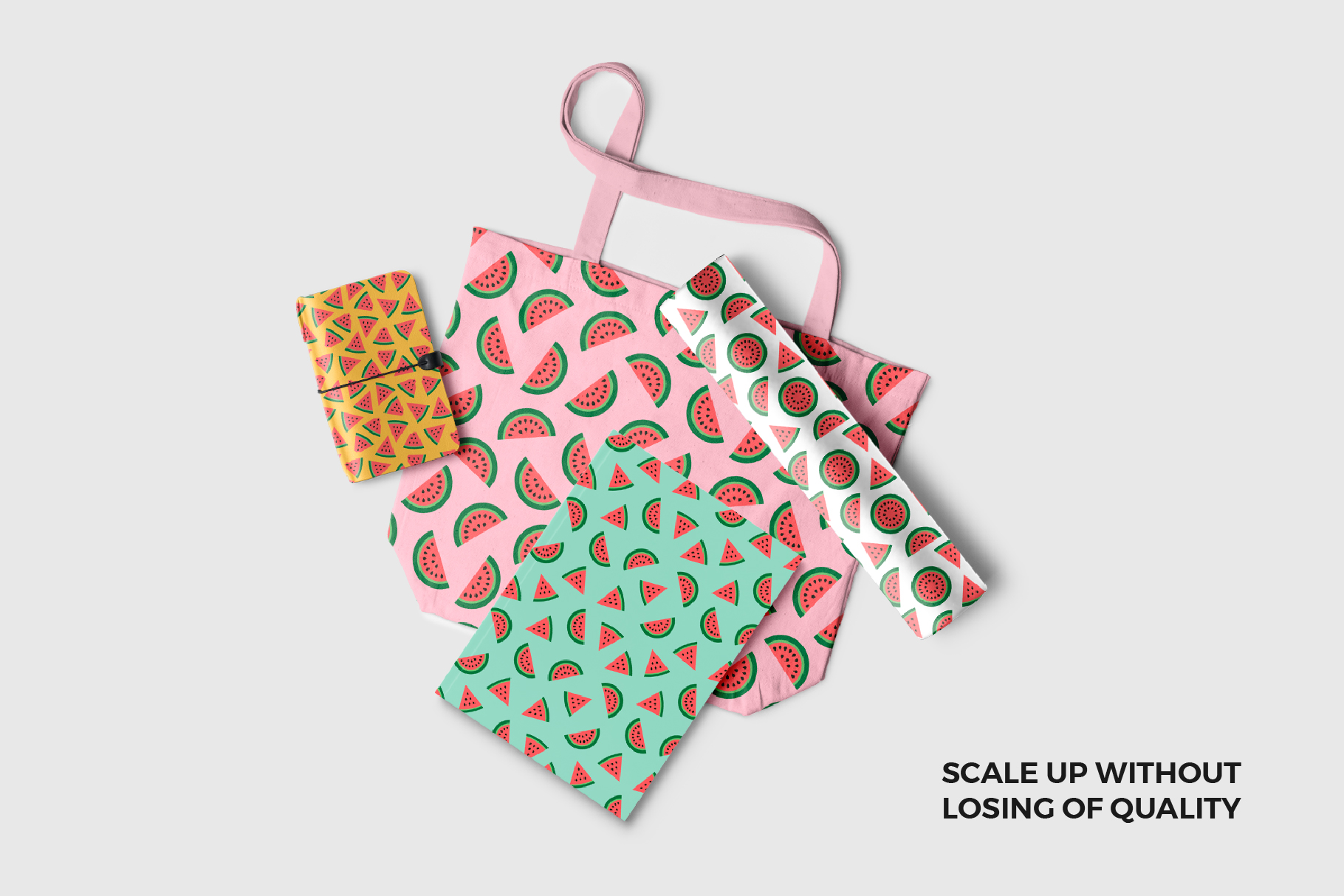 Watermelon Seamless Patterns example image 2