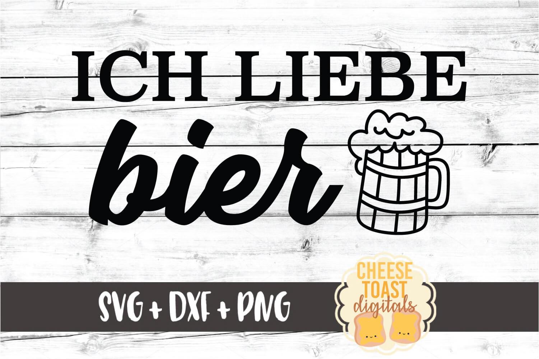 Ich Liebe Bier - Oktoberfest SVG PNG DXF Cut Files example image 2