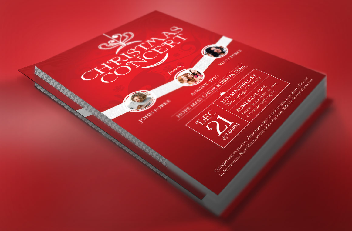 Red Christmas Concert Flyer Template example image 2