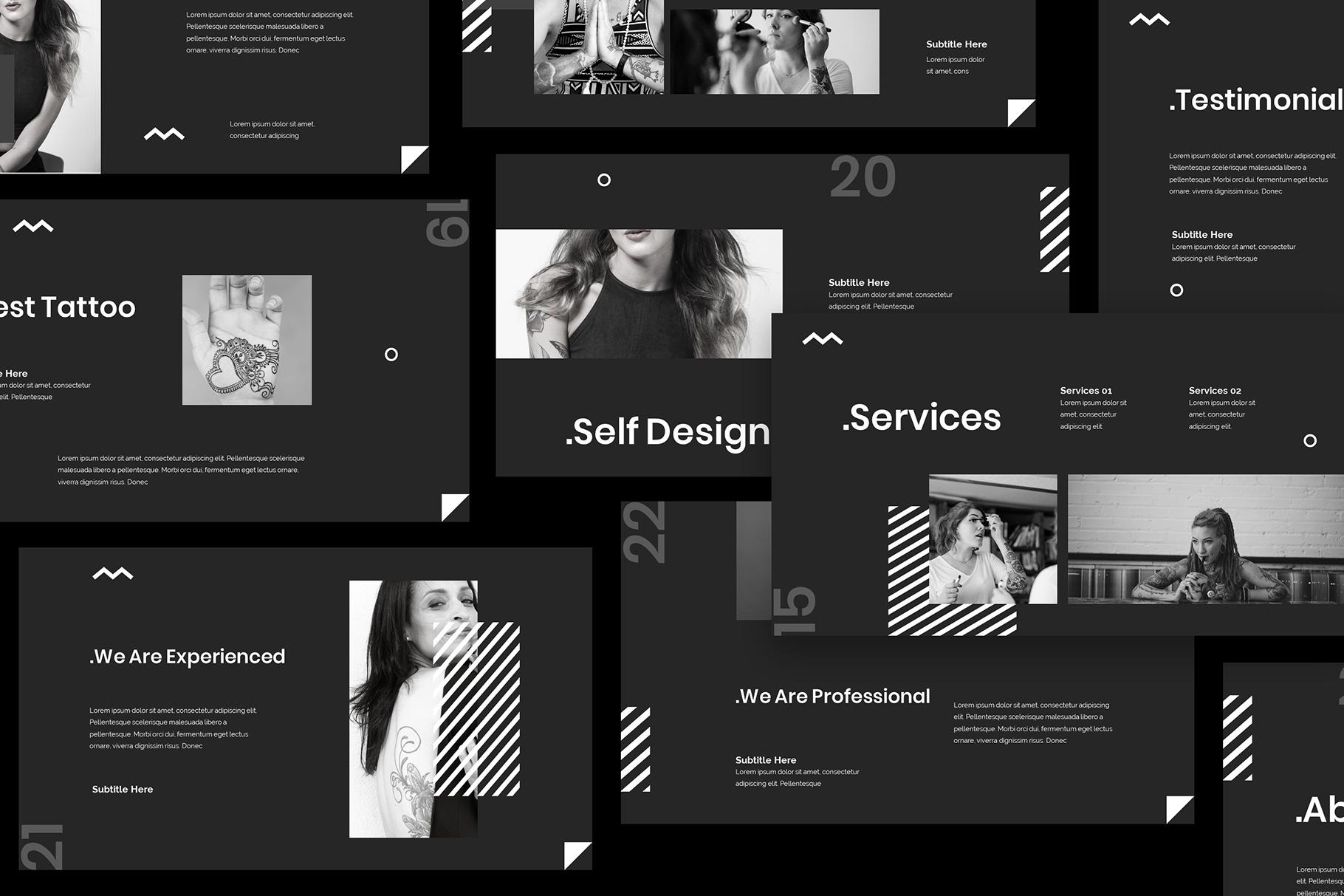 Tattoo Google Slides Presentation example image 4