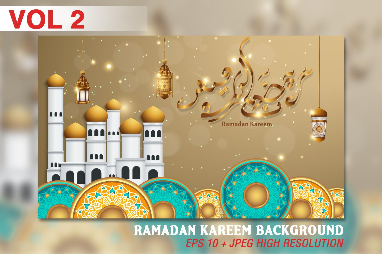 Ramadan Kareem background - VOL 2 example image 1