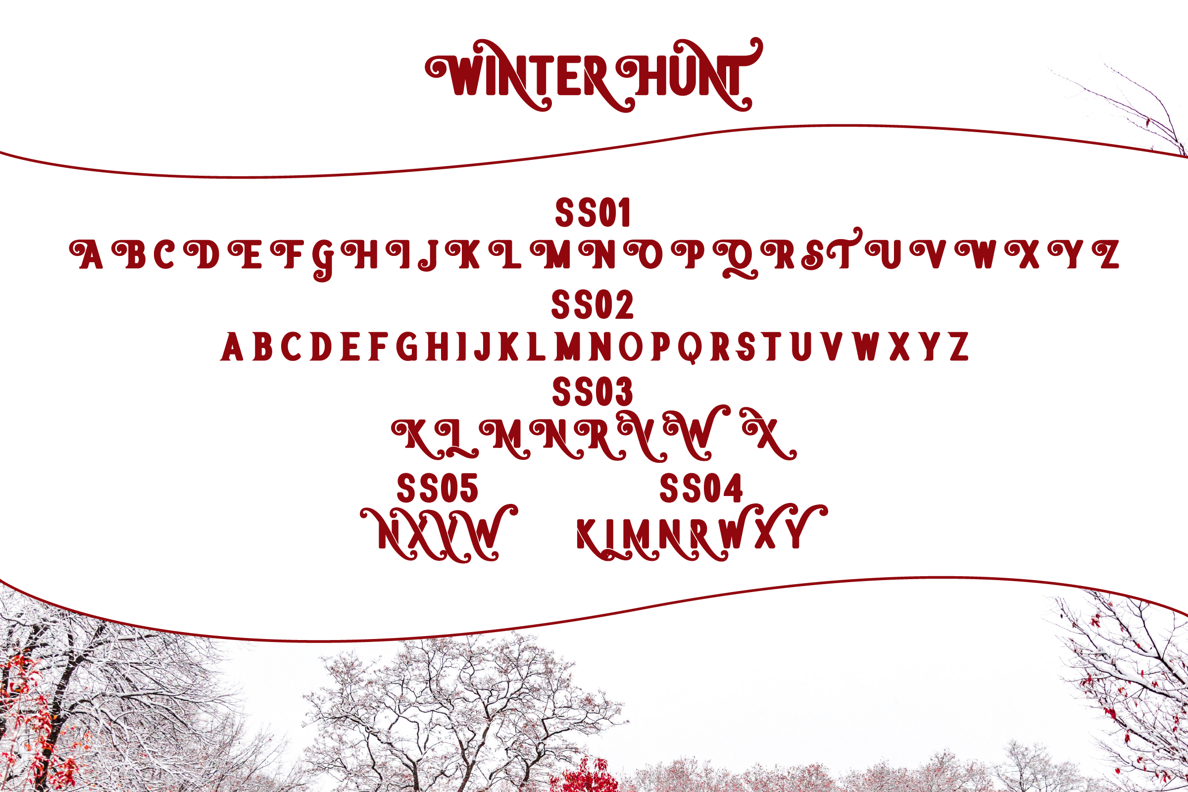 Winter Hunt Beauty Typeface example image 4