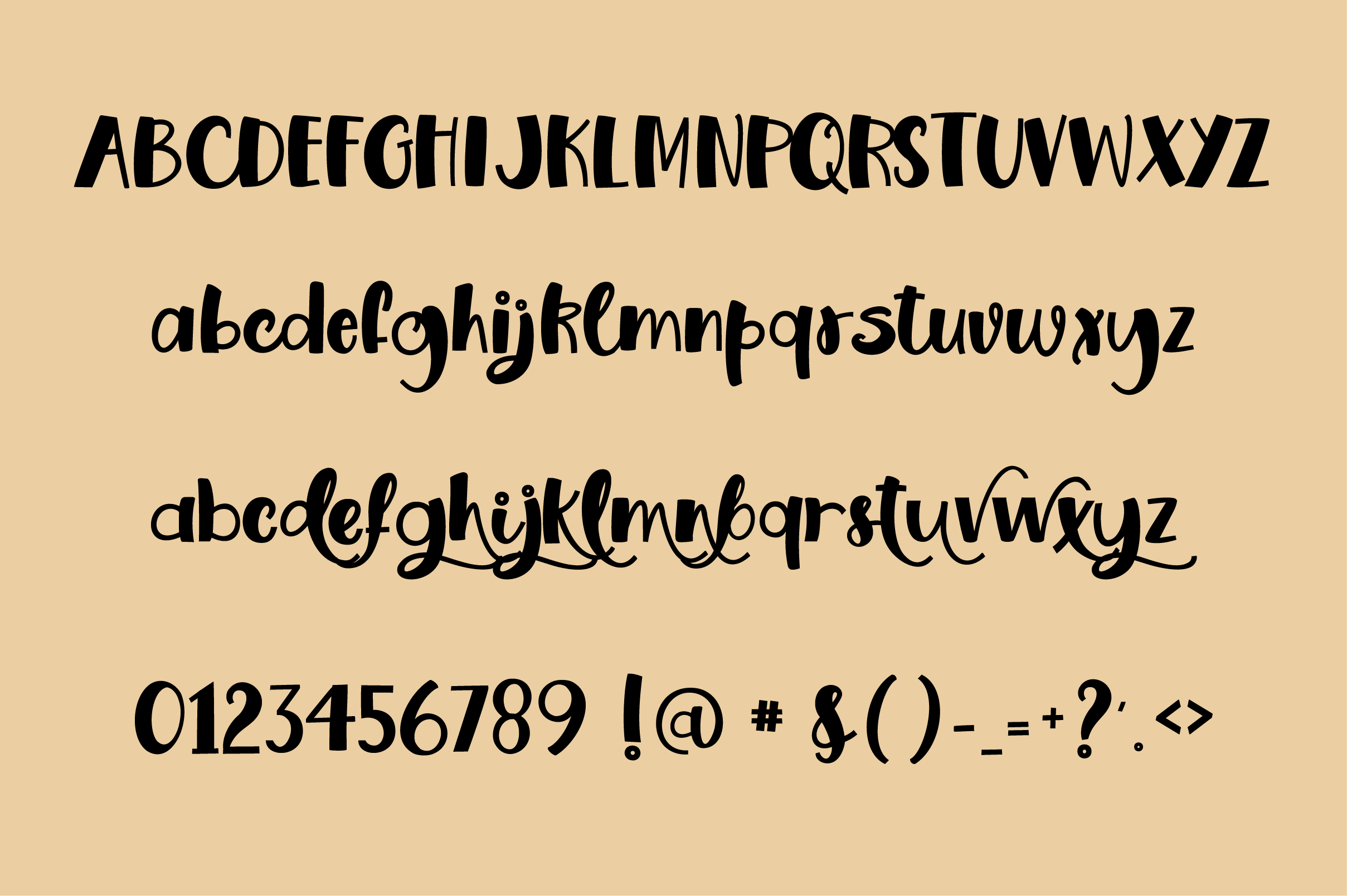 Honey and Dough, a playful font example image 6