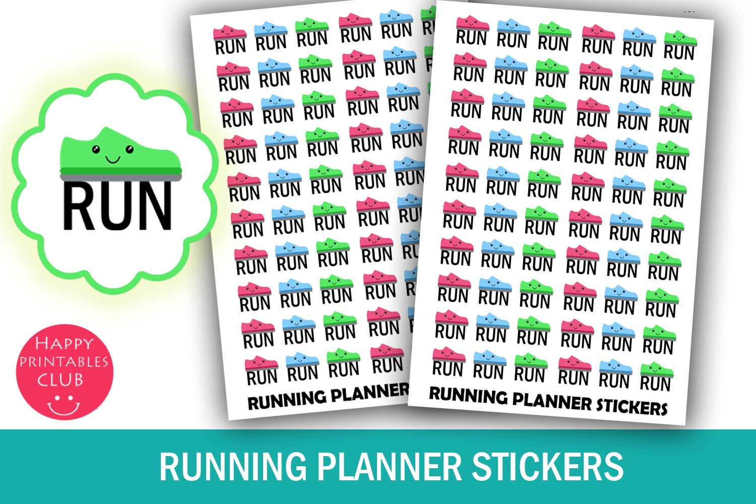 Running Planner Stickers Fitness Tracker Workout Stickers