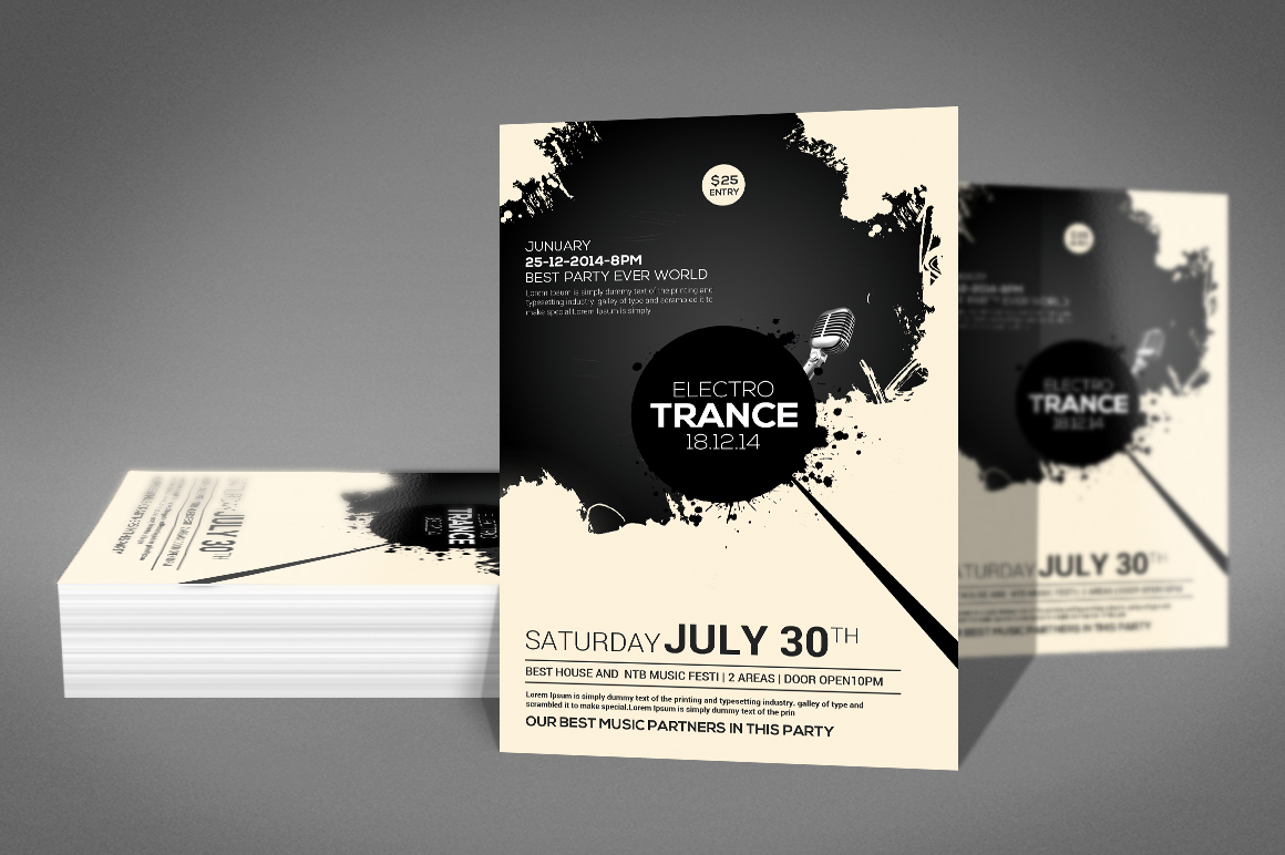 Trance Concert Flyer example image 2