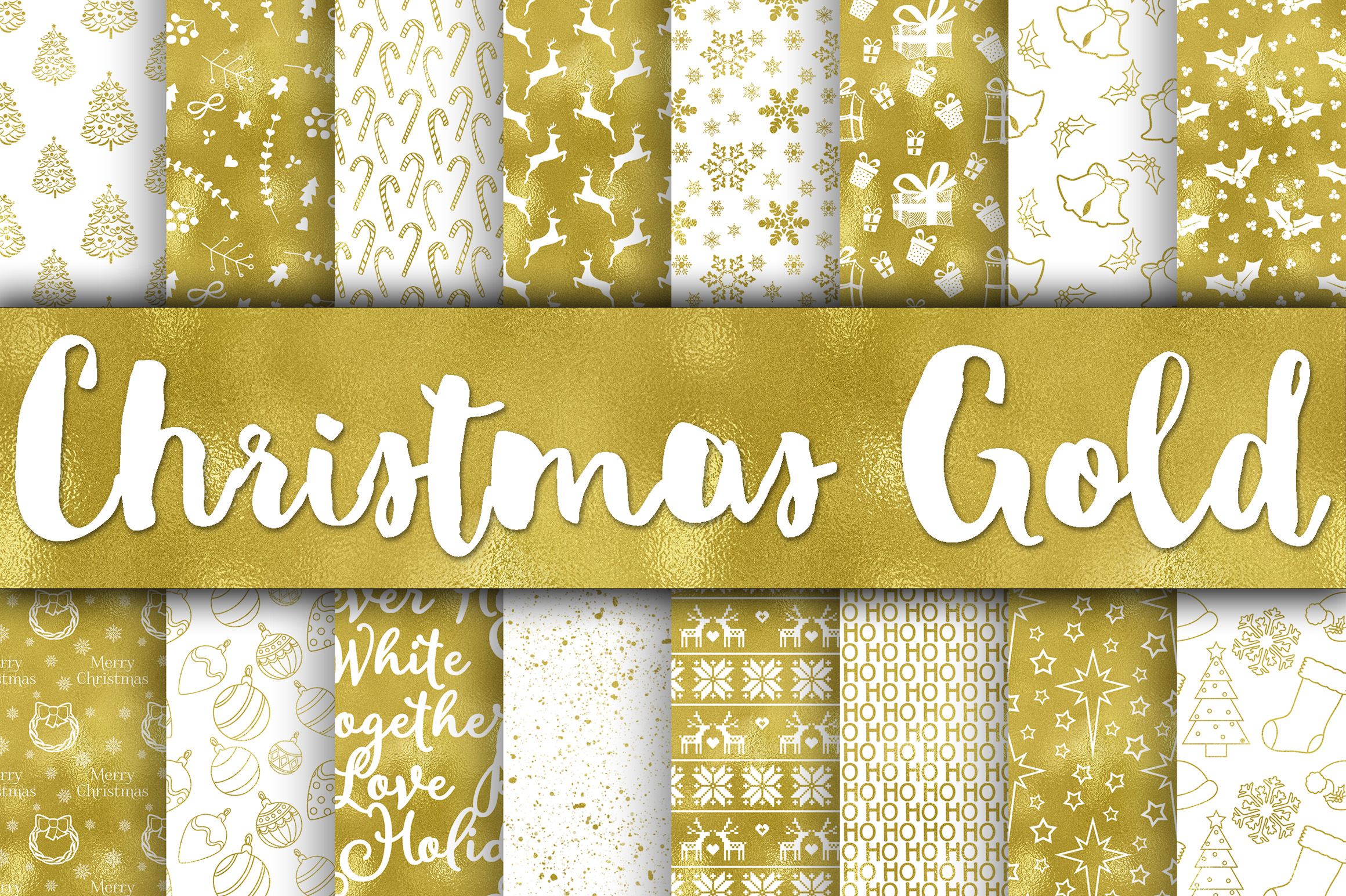 Christmas Bundle - Includes Over 200 Digital Papers example image 8