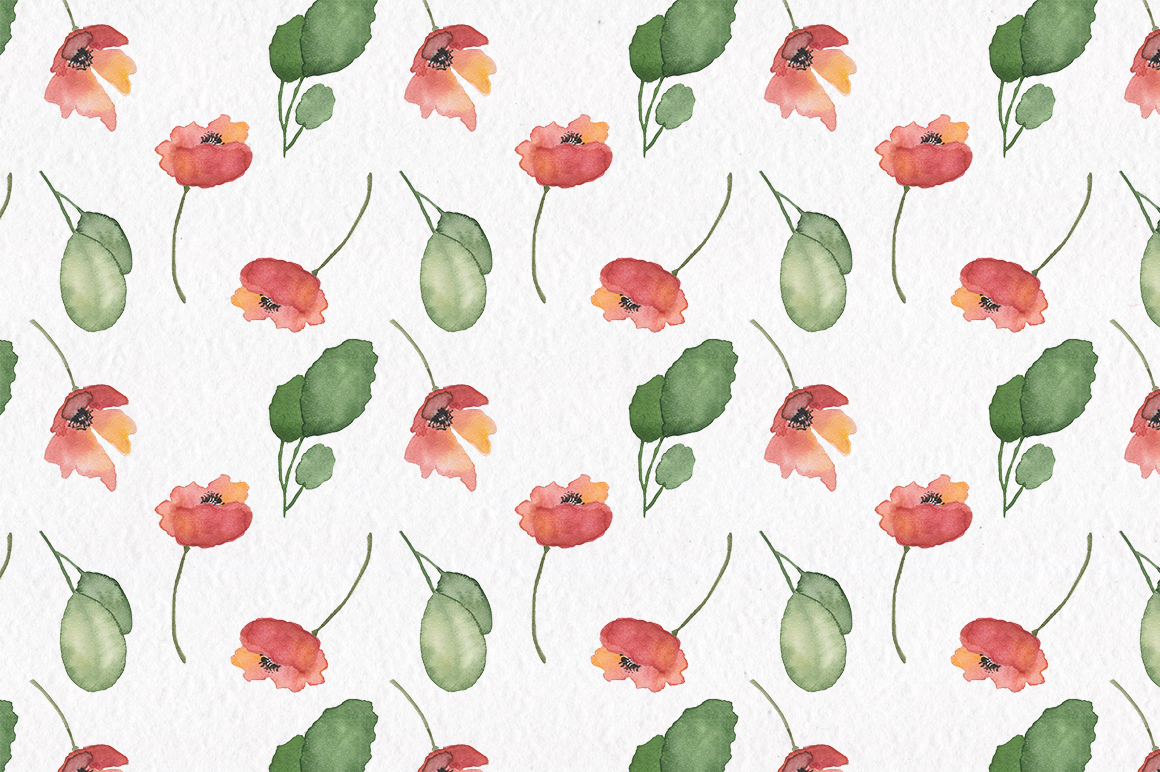 Spring florals. Watercolor floral collection. example image 7