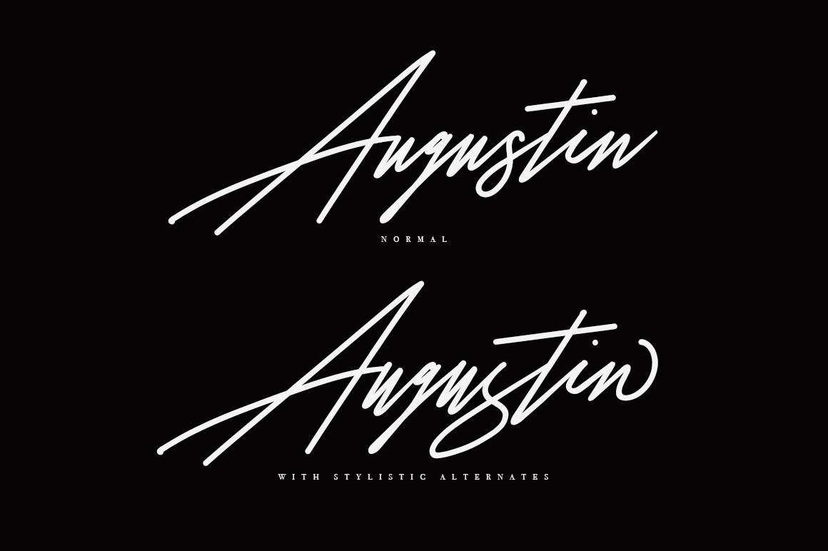Augustia Signature Font example image 2