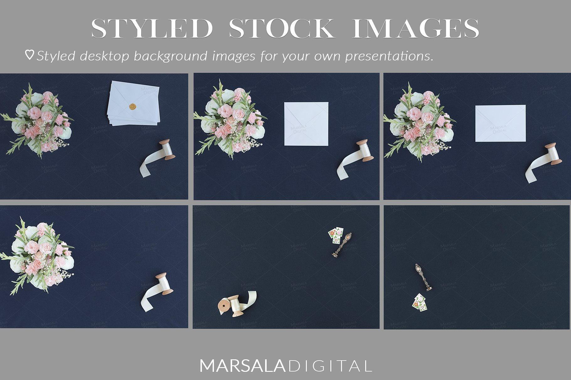 Blush and Navy Wedding Mockup Bundle example image 11