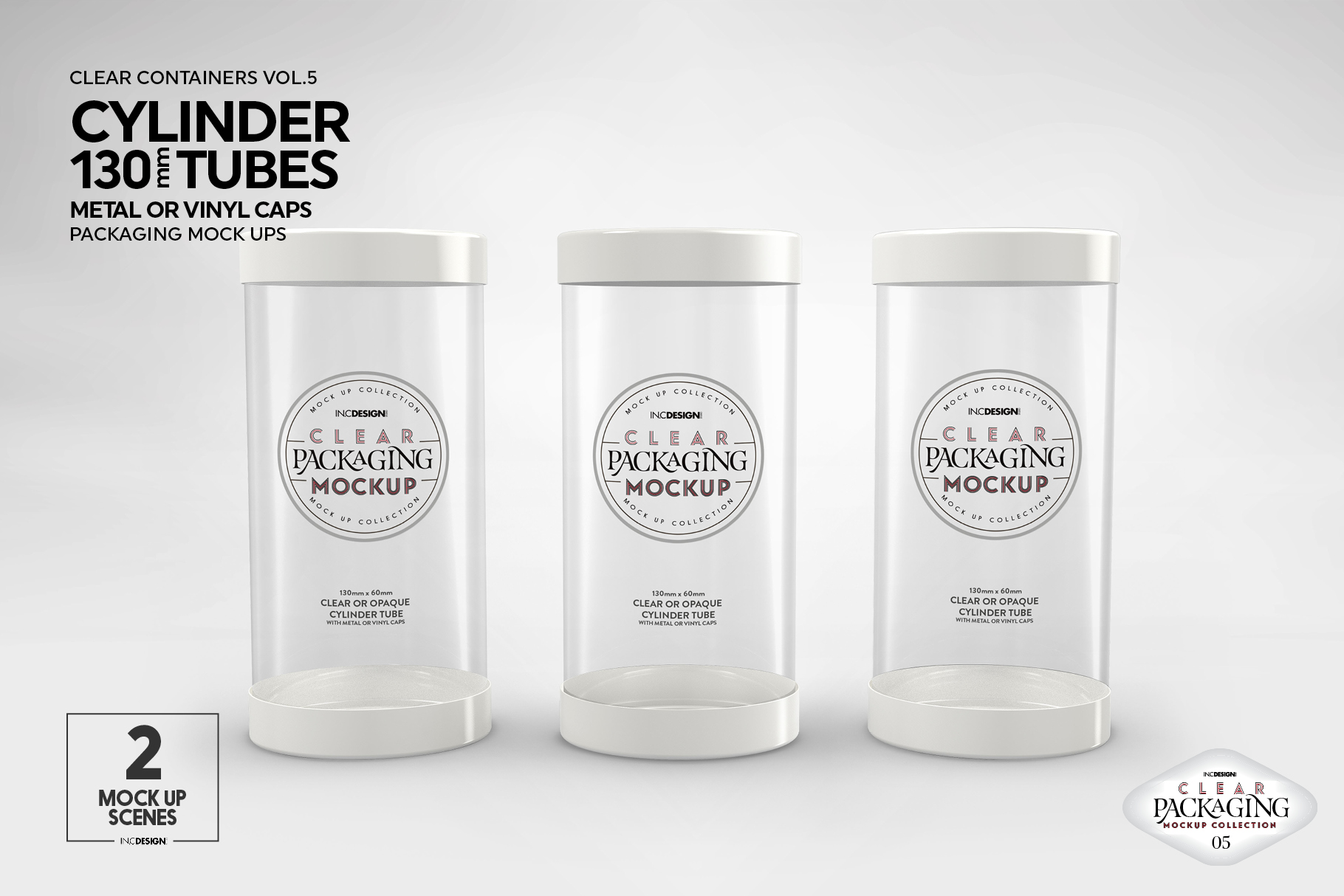 130mm Cylinder Tube Packaging Mockup example image 13