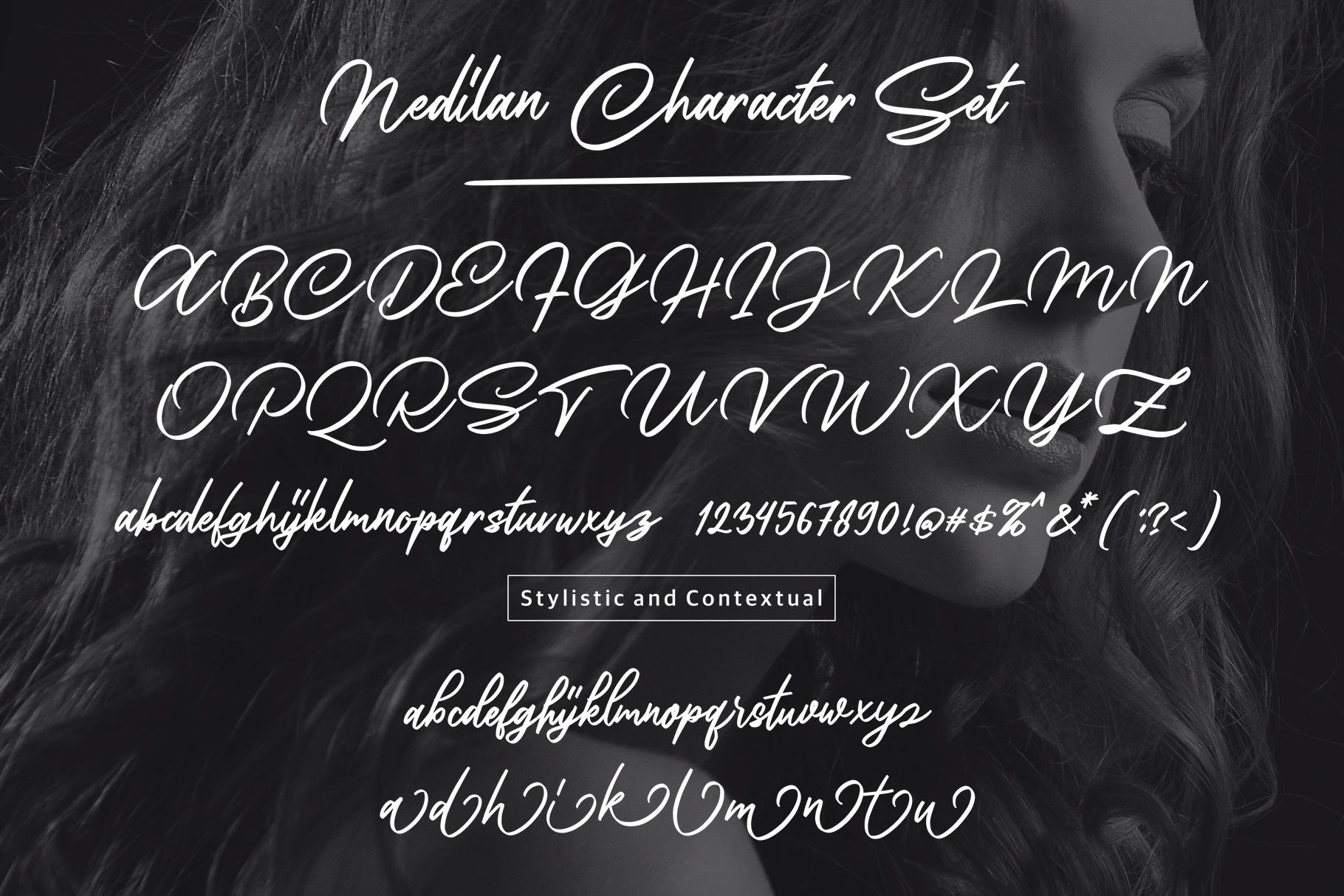 Nedilan - Signature Nedilan - Signature by BRTL in Fonts De example image 8