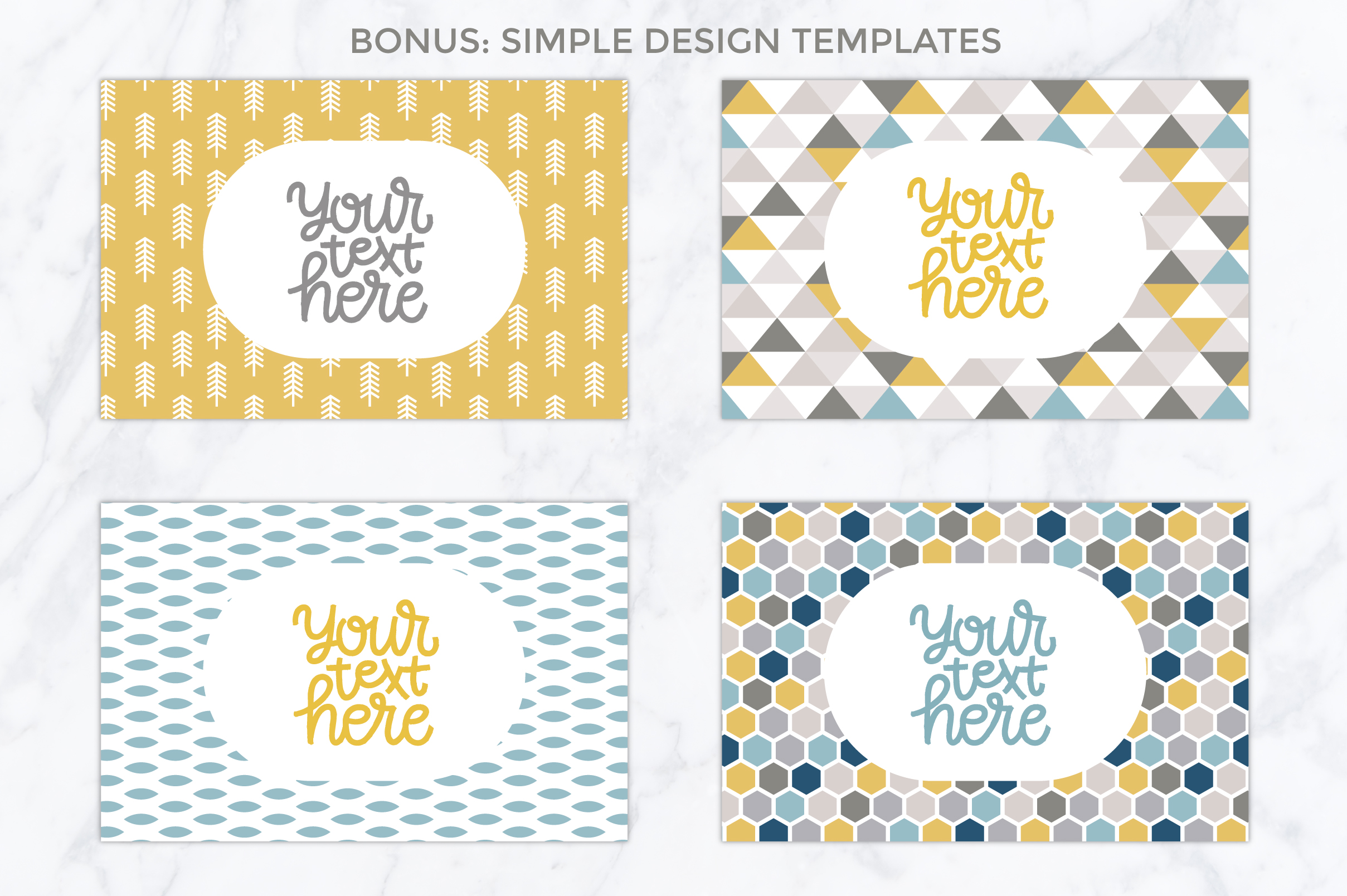 26 vector patterns Trendy Colors example image 7