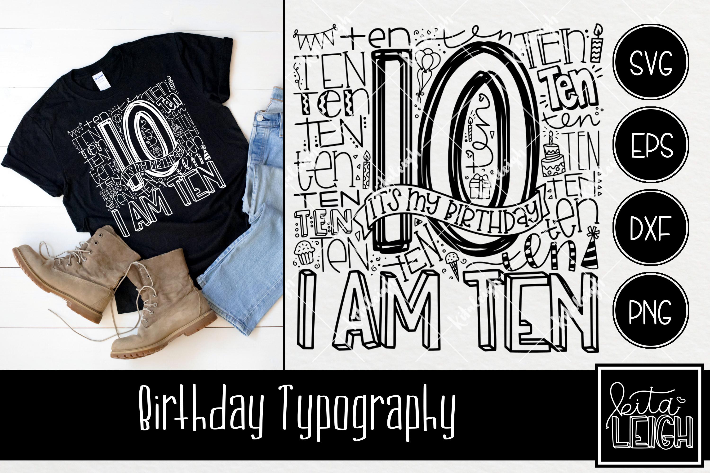 Birthday Typography Bundle example image 11